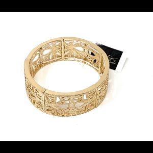 Thalia Sodi gold tone filigree bracelet